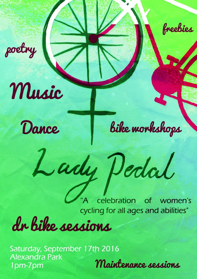 Lady Pedal Poster